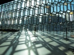 shadows inside the harpa orchestra house, reykjavik
